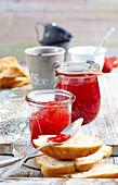 Strawberry jam with ginger for brakfast