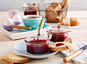 Sour cherry and vanilla jam for breakfast