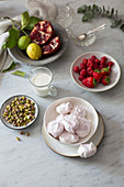 Ingredients for Eton Mess
