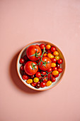 Various tomatoes in a bowl