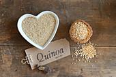 Quinoa, whole and puffed