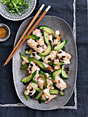 Cuttlefish with black beans and cucumber (China)