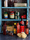 Pantry with Asian foods