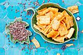Lentil chips and lentils