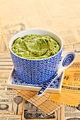 Guacamole in a small bowl