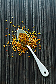 Bee pollen on a spoon