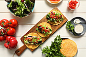 Tasty vegetarian tacos