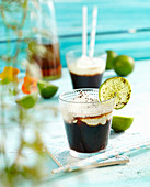 Cafe de Cuba (coffee with rum, lime, cream and cocoa)