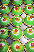 Cassata siciliana (ricotta cream cakes with candied fruit, Italy)