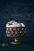 Mint chocolate Swiss roll