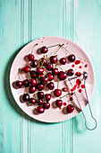 Removing pips from fresh cherries