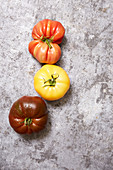Three Color Tomatoes