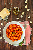 Ricotta gnocchi with tomatoes sauce
