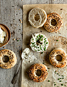Creamcheese Bagel with chives