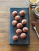 Chestnut-chocolate truffles