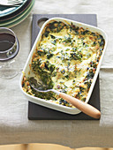 Tessiner Klosterkuchen (spinach and porccini mushroom bake, Switzerland)