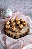 Mini caramel cupcakes