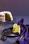 Green pandan cake