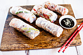 Summer rolls with a soya dip