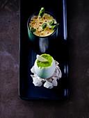 Asparagus soup with egg