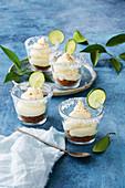 Mini Margarita cheesecake pots