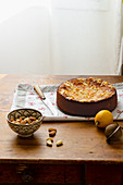 Lemon and ricotta cake with almonds