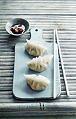 Steamed water chestnut and shrimp pastries