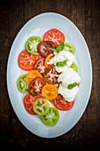 Heirloom Tomato Salad with Mozzarella