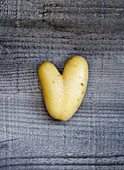 Potato in heart shape