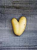 Potato in heart shape