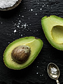 Avocado and spoon