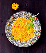Corn daal with cilantro