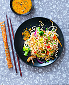 Mie Goreng with passion fruit sauce