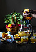 Orange peach juice