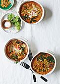 Roasted veg and lentil bobotie