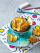 Baked apple and pear chips