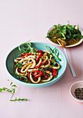 Pepper and calamari salad