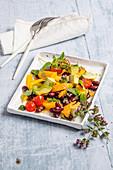 Beetroot, bean and orange salad