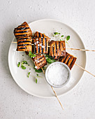 Grilled portobello skewers