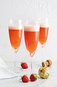Strawberry champagne aperitifs