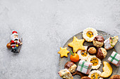 Christmas biscuits and sweets on a plate