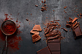 Cooking chocolate, chocolate and cocoa powder
