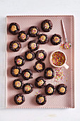Milk chocolate thumbprint cookies