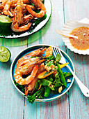 Grilled prawn salad with nahm jim