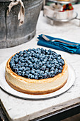 New York Cheesecake (cream cheesecake with blueberries, USA)