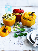 Risotto-Filled Baked Capsicum