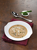 Chestnut soup with chives