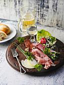 A platter of ham