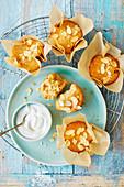 Glutenfreie Amaretti-Muffins mit Mandelblättchen
