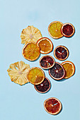 Dried sliced citrus fruit